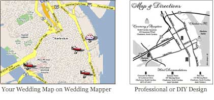 Free personalized and interactive wedding maps wedding planning wedding mapper has do it yourself instructions on how to create a printed wedding map wedding mapper also lets you save on a custom designed wedding map solutioingenieria Image collections